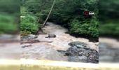 Sağanak yağış sonrası derelerde su seviyesi yükseldi, heyelan meydana geldi