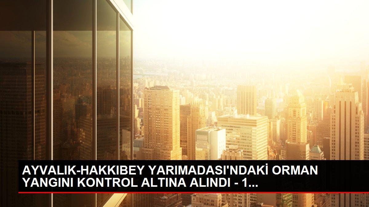 AYVALIK-HAKKIBEY YARIMADASI'NDAKİ ORMAN YANGINI KONTROL ALTINA ALINDI - 1...