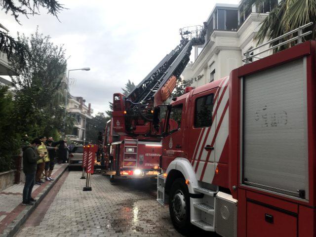 Çamaşır makinesi büyük bir gürültüyle patladı, yangın çıktı