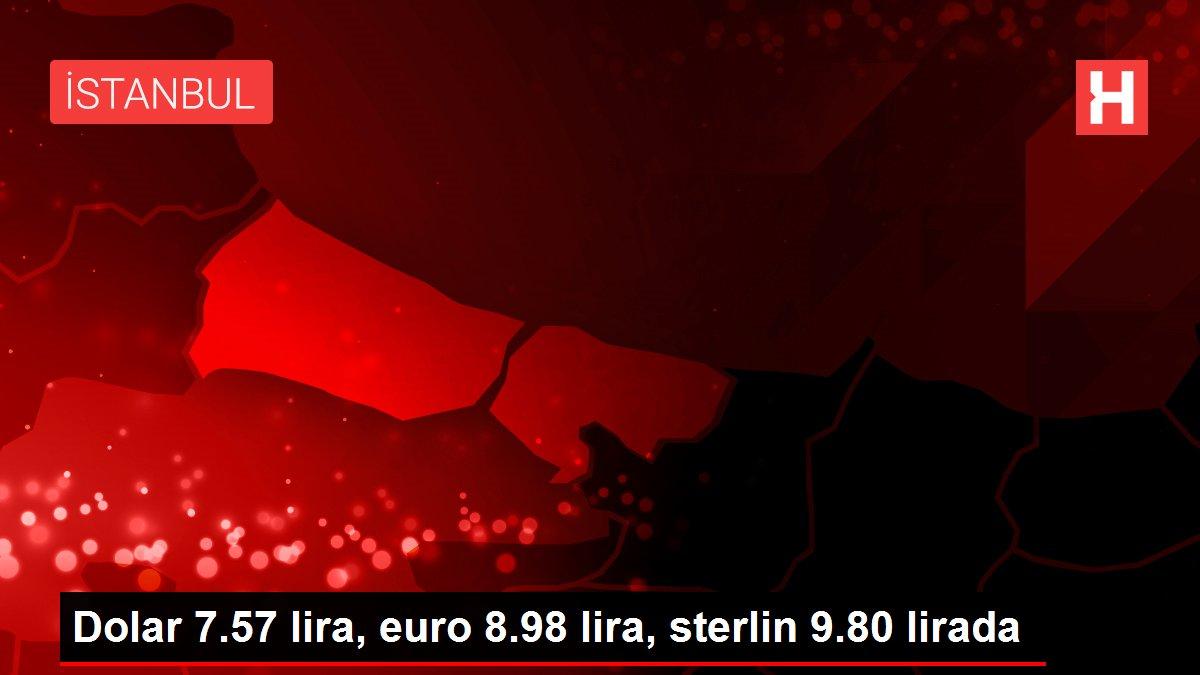 Dolar 7.57 lira, euro 8.98 lira, sterlin 9.80 lirada