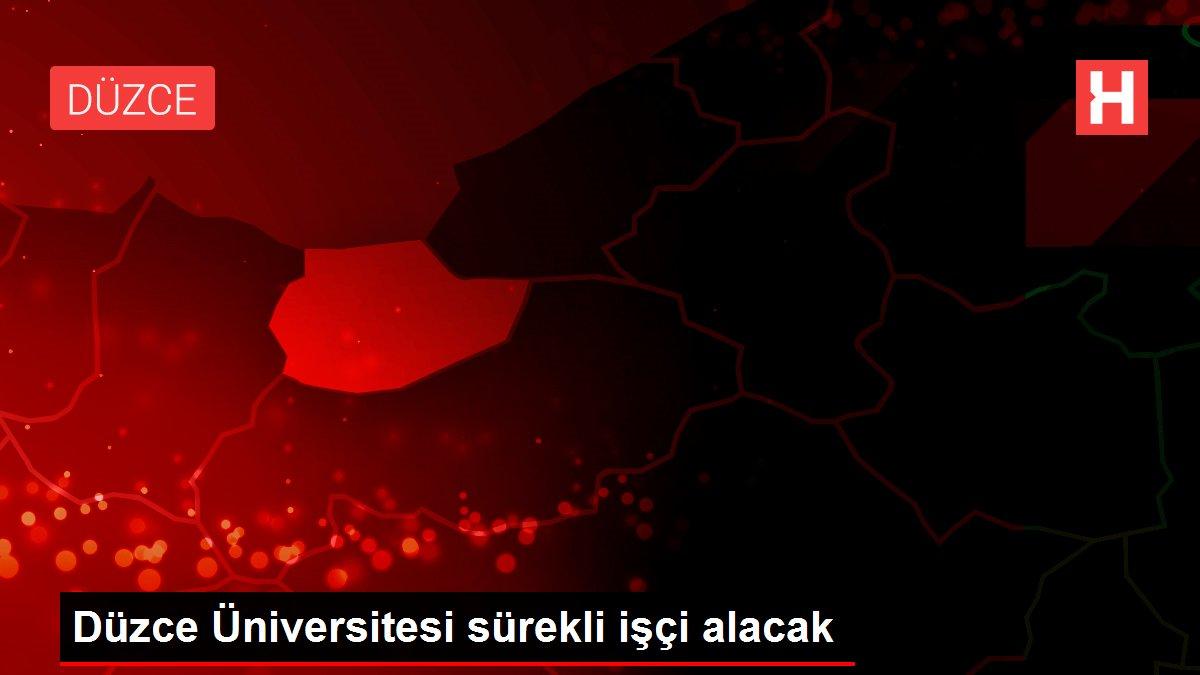 Düzce Üniversitesi sürekli işçi alacak