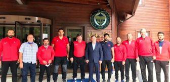 Elmadağ: Musa Aydın'dan Serbest Güreş Milli Takım kampına ziyaret