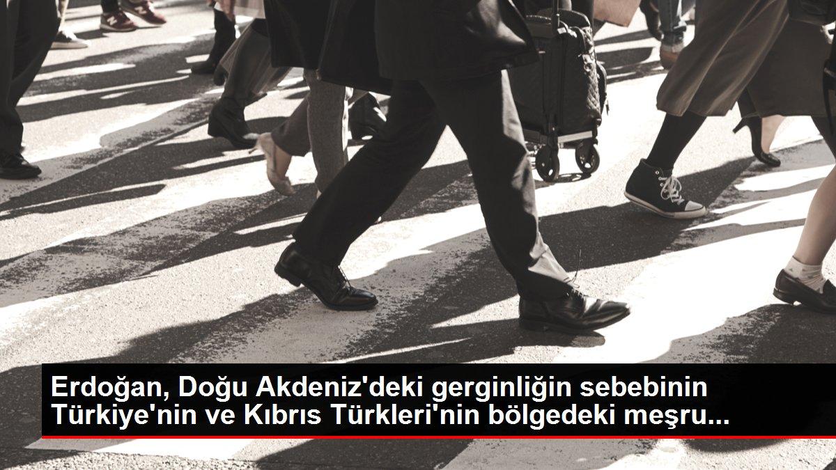 Erdoğan, Doğu Akdeniz'deki gerginliğin sebebinin Türkiye'nin ve Kıbrıs Türkleri'nin bölgedeki meşru...