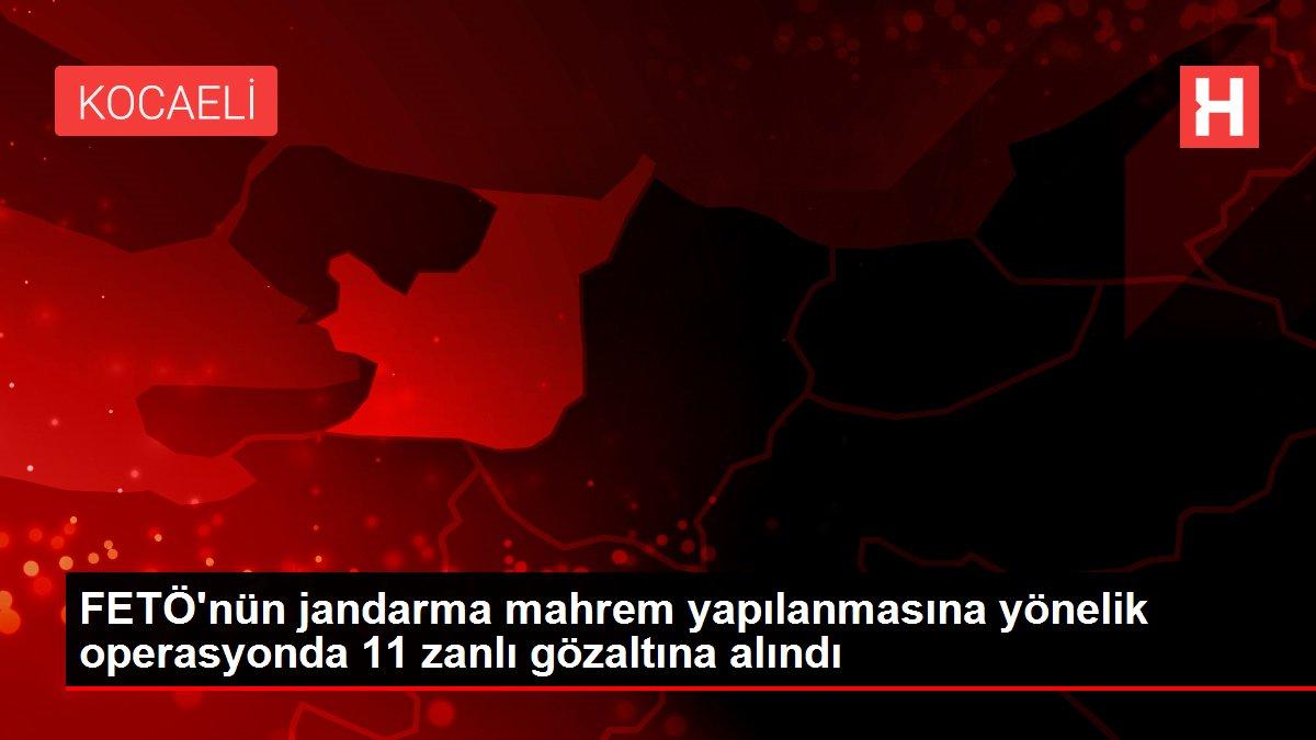 FETÖ'nün jandarma mahrem yapılanmasına yönelik operasyonda 11 zanlı gözaltına alındı