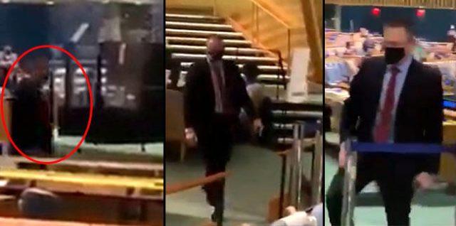İsrail Büyükelçisi, Cumhurbaşkanı Erdoğan'ın eleştirileri sonrası BM salonunu terk etmek zorunda kaldı