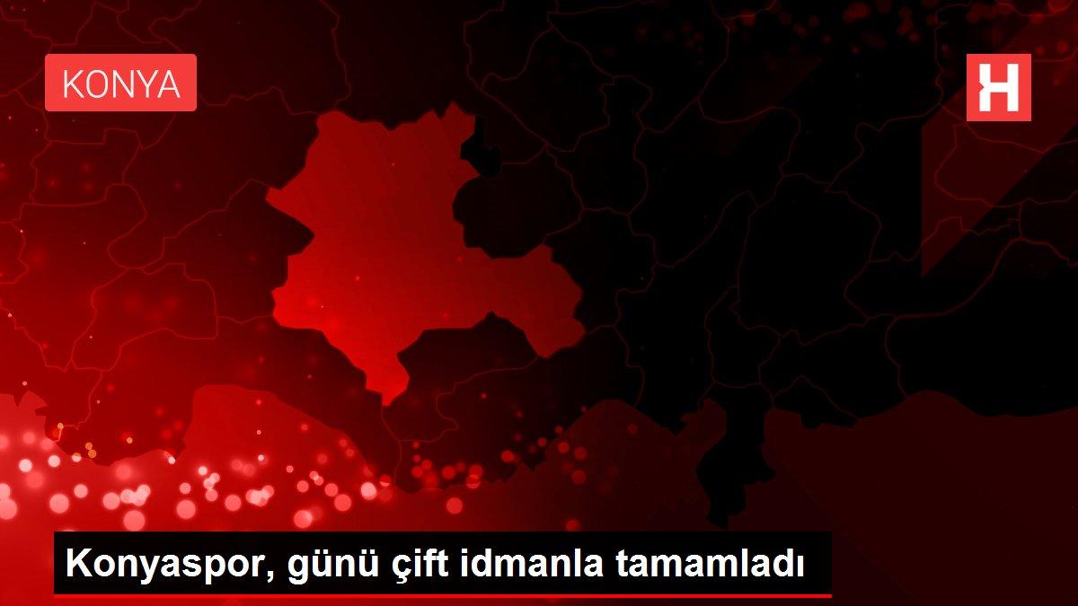 Konyaspor, günü çift idmanla tamamladı