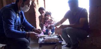 Ören: Minik kızı Ani'nin doğum gününü Ani Ören Yeri'nde kutladı