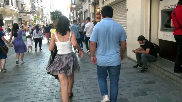 Taksim'de genç kadını uzun süre takip eden kişi: Kadını korumak için yürüdüm