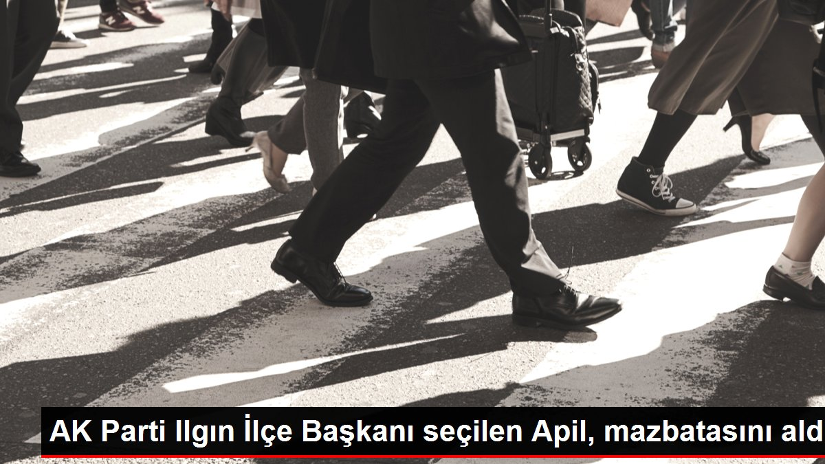 AK Parti Ilgın İlçe Başkanı seçilen Apil, mazbatasını aldı