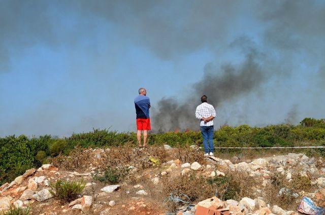 Didim'deki makilik yangını korkuttu