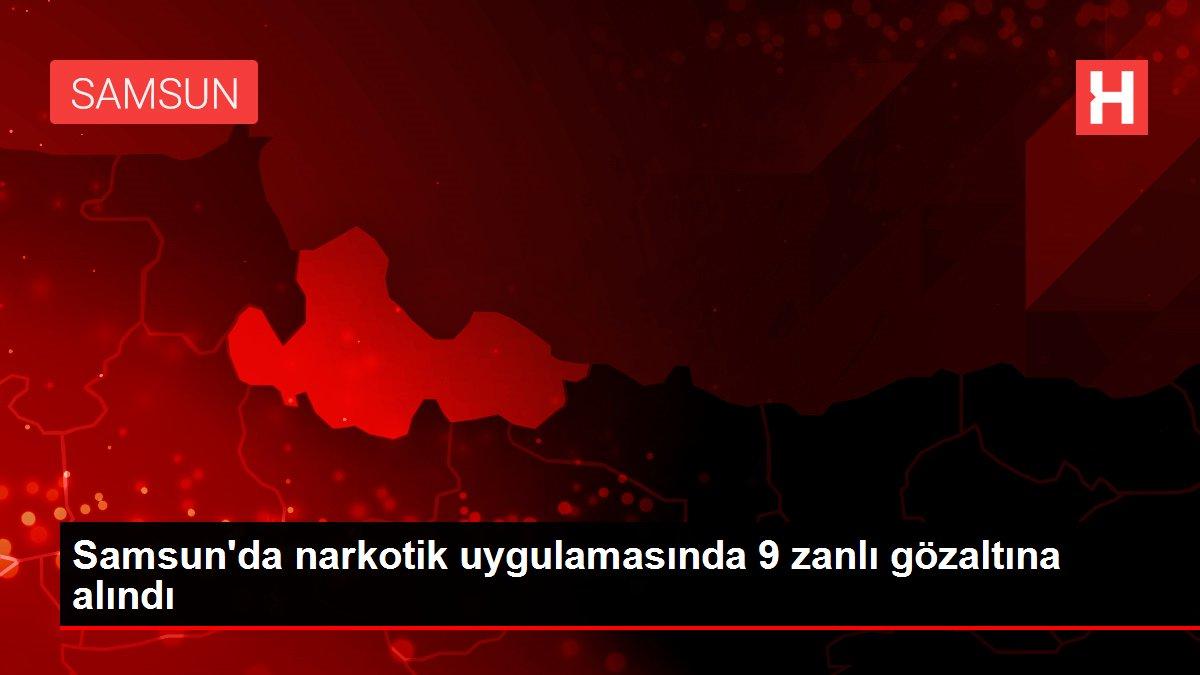 Samsun'da narkotik uygulamasında 9 zanlı gözaltına alındı