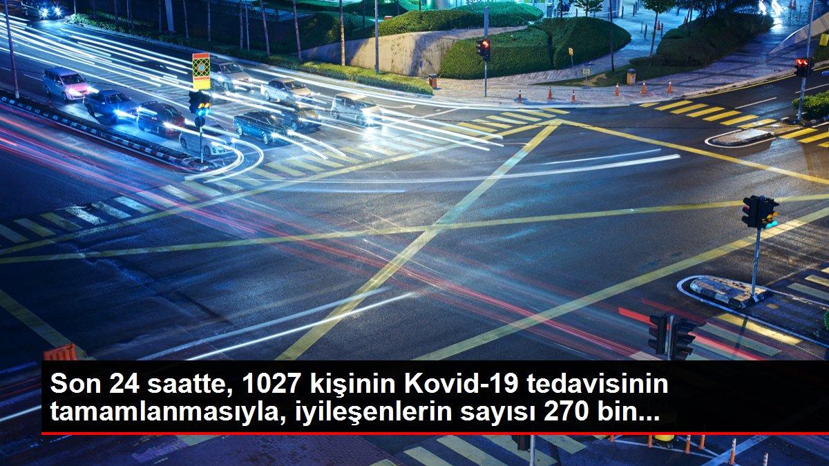 Son 24 saatte, 1027 kişinin Kovid-19 tedavisinin tamamlanmasıyla, iyileşenlerin sayısı 270 bin...