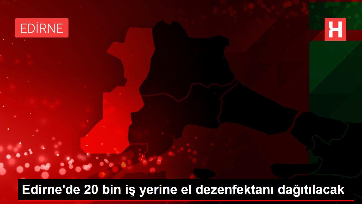 Edirne'de 20 bin iş yerine el dezenfektanı dağıtılacak