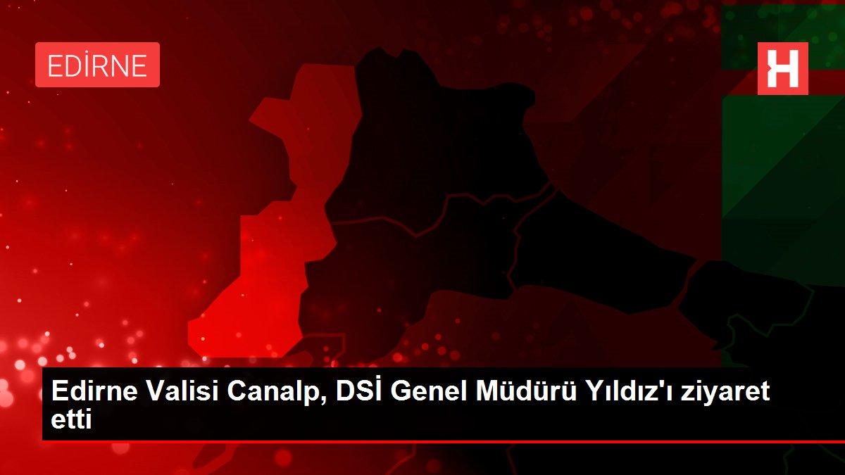 Edirne Valisi Canalp, DSİ Genel Müdürü Yıldız'ı ziyaret etti