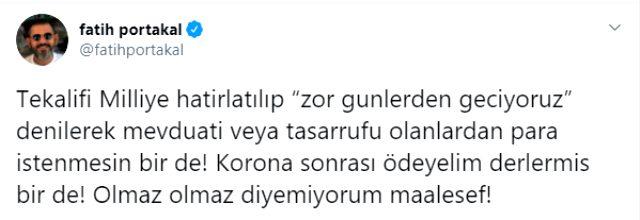 Fatih Portakal, Tekalif-i Milliye tweeti yüzünden 3 yıl hapis istemiyle yargılanmaya başladı