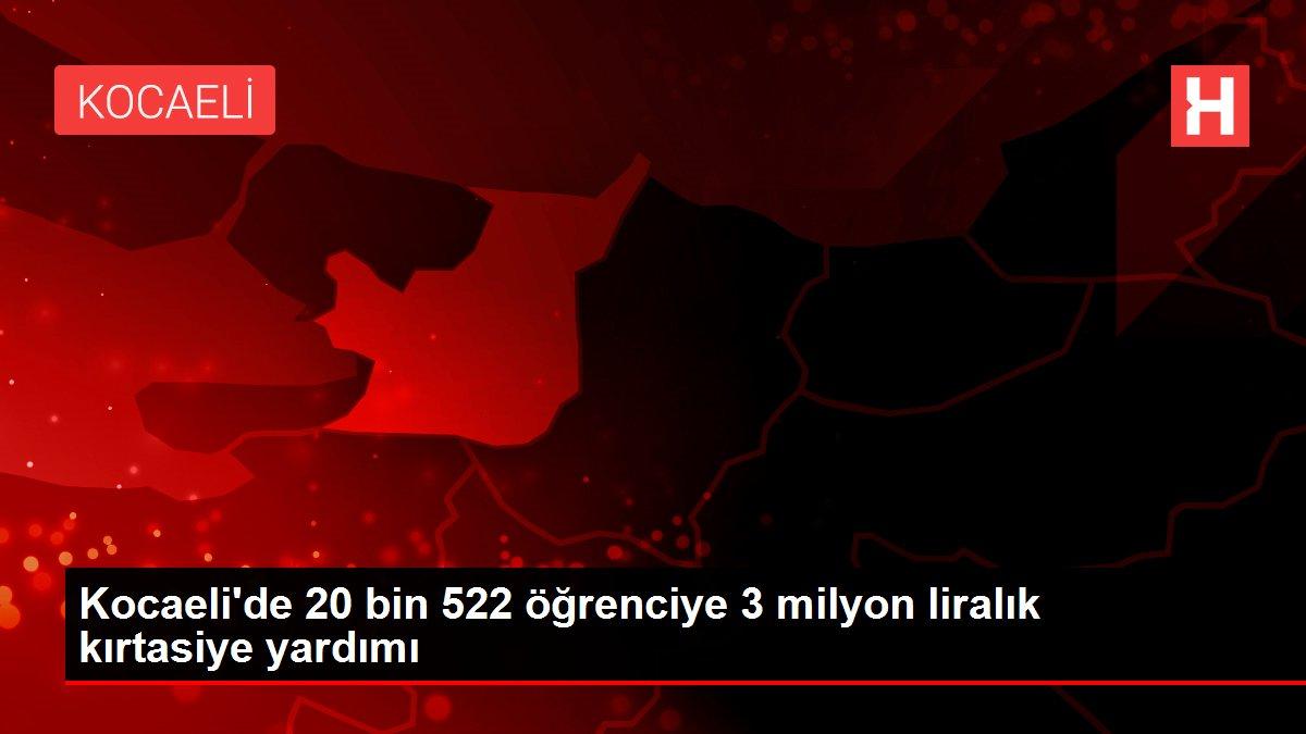 Kocaeli'de 20 bin 522 öğrenciye 3 milyon liralık kırtasiye yardımı