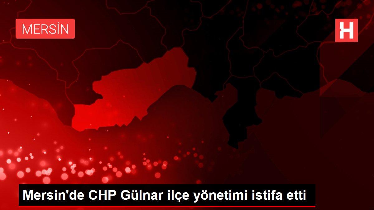 Mersin'de CHP Gülnar ilçe yönetimi istifa etti