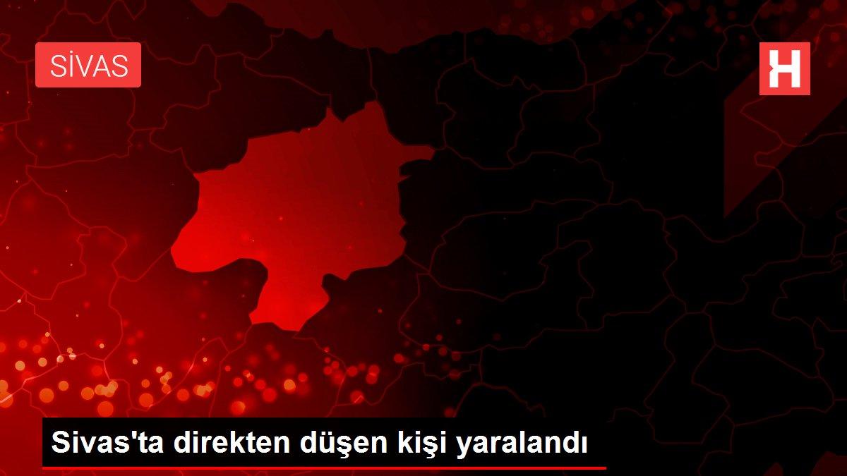 Sivas'ta direkten düşen kişi yaralandı