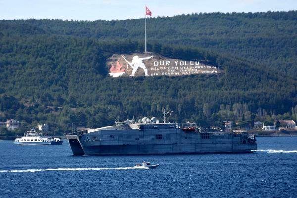Son dakika haberi: ABD hızlı transfer gemisi 'USNS Yuma', Çanakkale Boğazı'ndan geçti