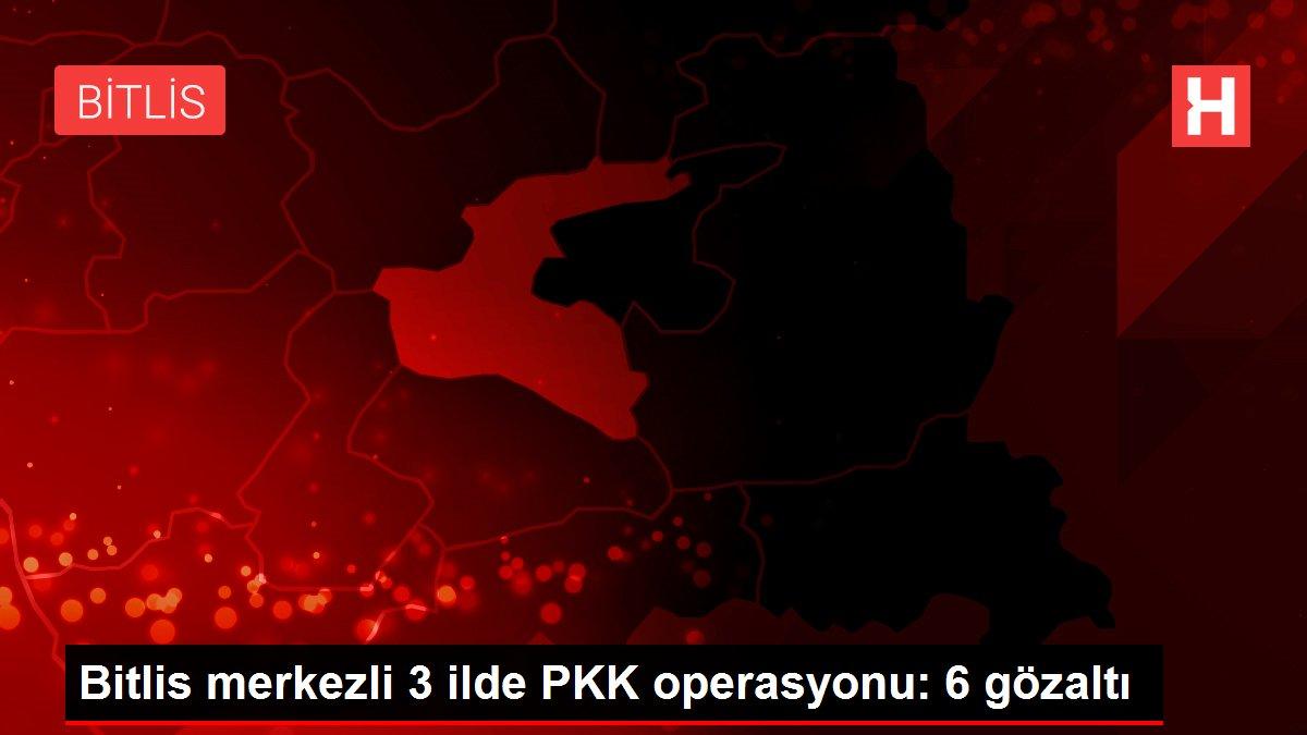 Bitlis merkezli 3 ilde PKK operasyonu: 6 gözaltı