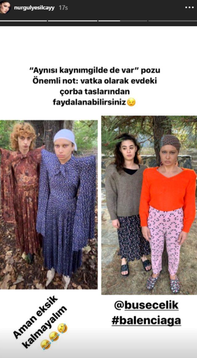 Dünyaca ünlü giyim markasını taklit eden Nurgül Yeşilçay, hayranlarını kırdı geçirdi