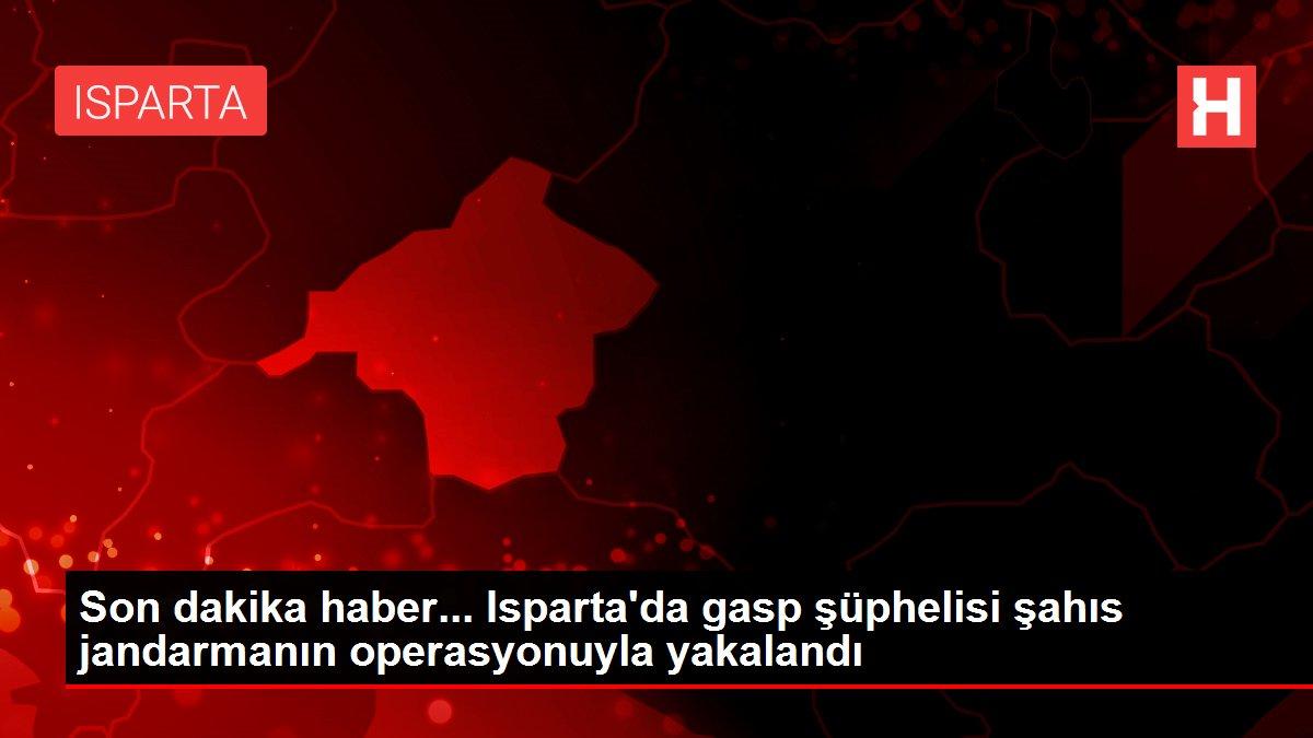 Son dakika haber... Isparta'da gasp şüphelisi şahıs jandarmanın operasyonuyla yakalandı