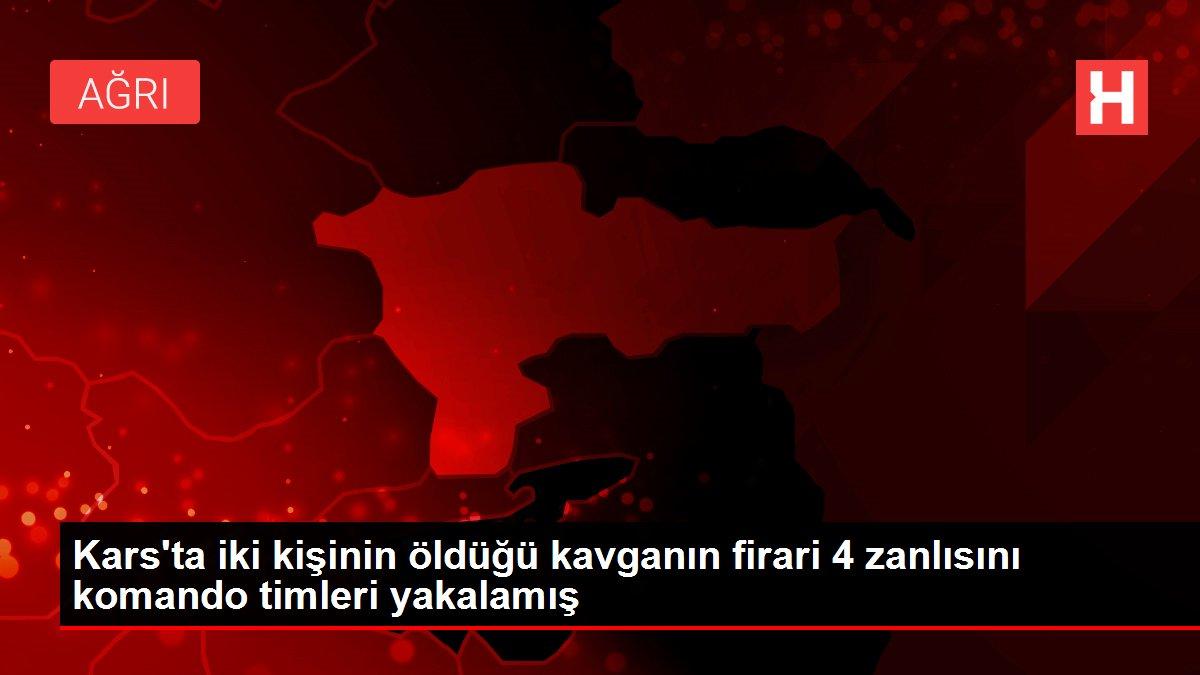 Kars'ta iki kişinin öldüğü kavganın firari 4 zanlısını komando timleri yakalamış