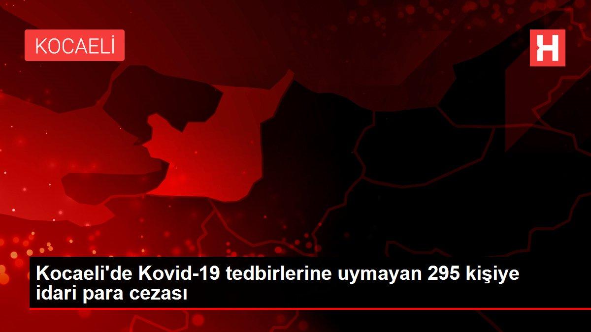 Son dakika haberleri | Kocaeli'de Kovid-19 tedbirlerine uymayan 295 kişiye idari para cezası
