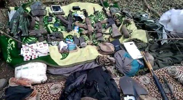 Son dakika haber | Irak kuzeyinde terör örgütü PKK'ya ait malzemeler ele geçirildi