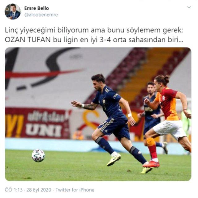 Ozan Tufan'ın Galatasaray derbisinde gösterdiği performans, sosyal medyada en çok konuşulan konulardan oldu