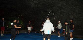 Tokyo: Türkiye Boks Milli Takımı, tuz mağarasında antrenmanlara devam ediyor