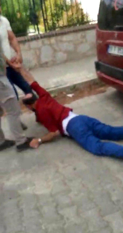 Komşusunun eşinden çocuk yapan Cengiz Koraltan'a sokak ortasında meydan dayağı