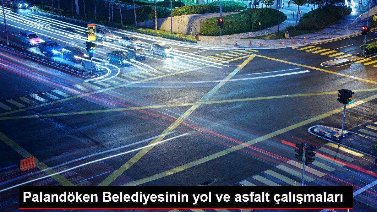 Palandöken Belediyesinin yol ve asfalt çalışmaları