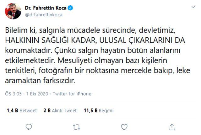 Sağlık Bakanı Koca, tartışma yaratan vaka sayısı sözleriyle ilgili yeni bir açıklama yaptı: Ulusal çıkarlar korunuyor