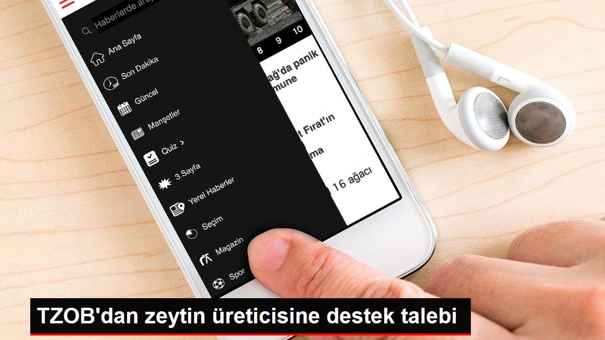 TZOB'dan zeytin üreticisine destek talebi