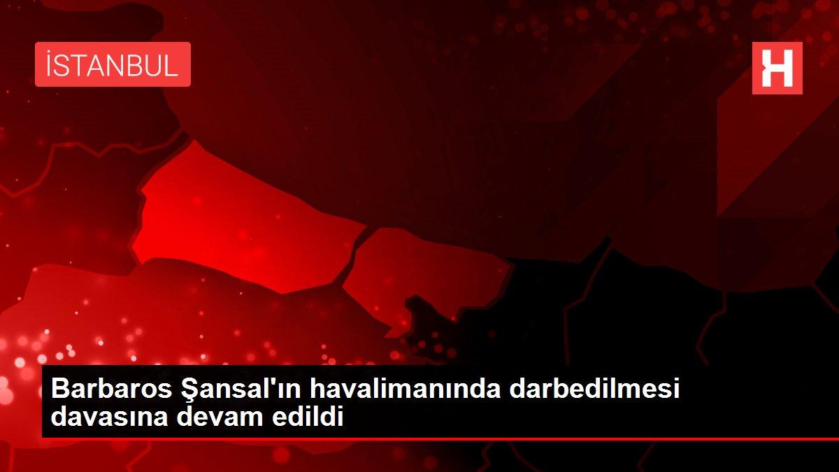 Barbaros Şansal'ın havalimanında darbedilmesi davasına devam edildi