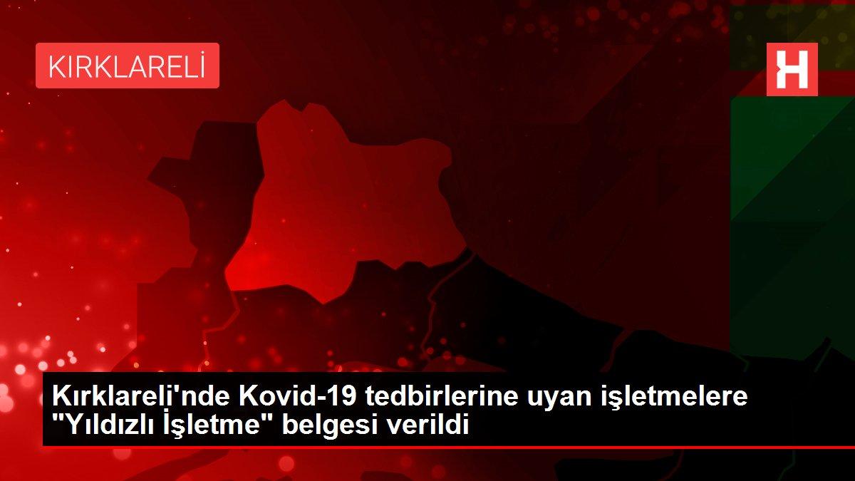 Kırklareli'nde Kovid-19 tedbirlerine uyan işletmelere
