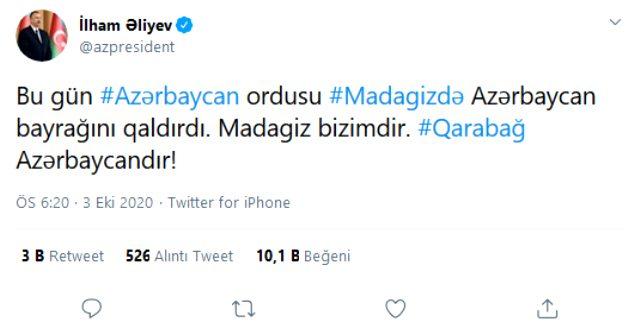 Azerbaycan ordusu, işgal altındaki Madagiz'i ele geçirdi