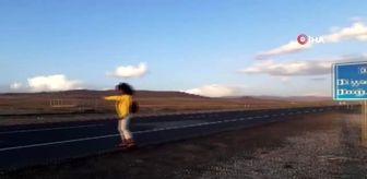 Doğubeyazıt: 'Doğa Saçlı Kadın' küresel ısınmaya dikkat çekmek için dağın zirvesine tırmandı