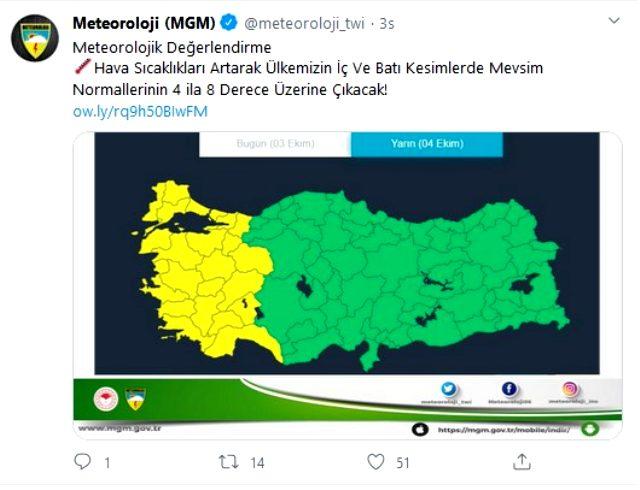 Meteoroloji, İstanbul dahil 23 ili sarı kodla uyardı: Yüksek sıcaklıklar geliyor