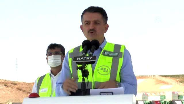 Pakdemirli: 'Reyhanlı Barajı'mız, Hatay ve ülkemiz için hayati önem taşıyan bir projedir'