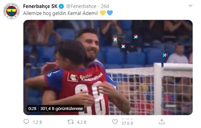 Fenerbahçe, Basel'den Kemal Ademi'yi kadrosuna kattı
