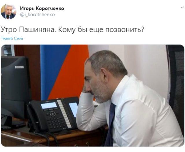 Rus askeri uzman, Ermenistan Başbakanı Nikol Paşinyan ile böyle dalga geçti: Bugün kimi arasam?