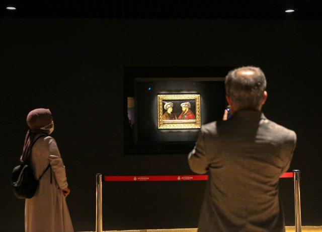 Ünlü İtalyan ressamın Fatih portresi halkın ziyaretine açıldı