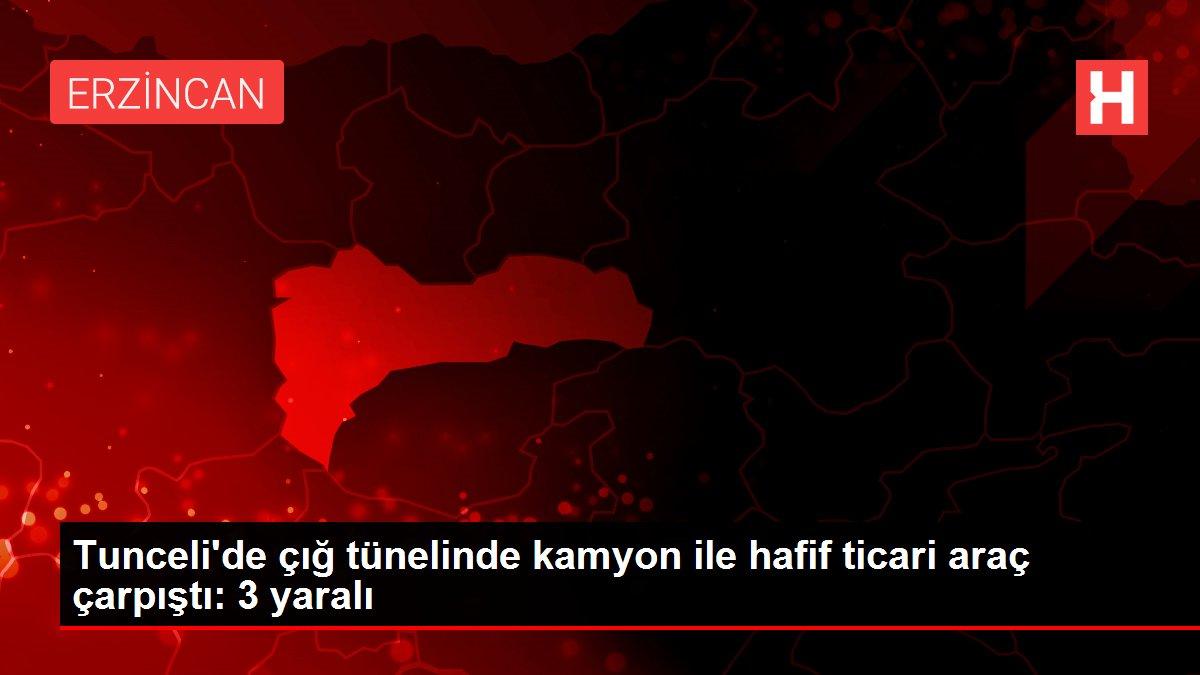 Tunceli'de çığ tünelinde kamyon ile hafif ticari araç çarpıştı: 3 yaralı