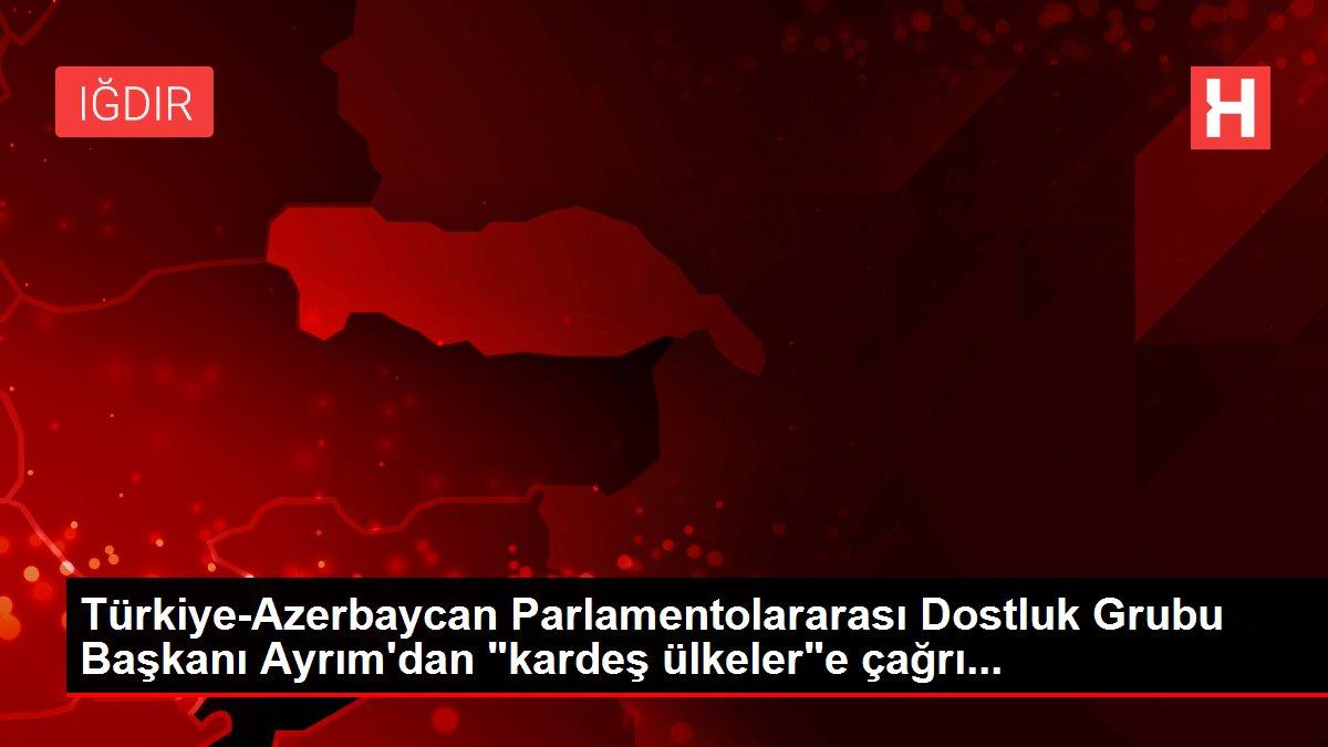 Türkiye-Azerbaycan Parlamentolararası Dostluk Grubu Başkanı Ayrım'dan