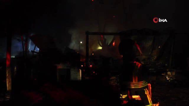 Kayseri'de meydana gelen yangında müstakil ev kül oldu