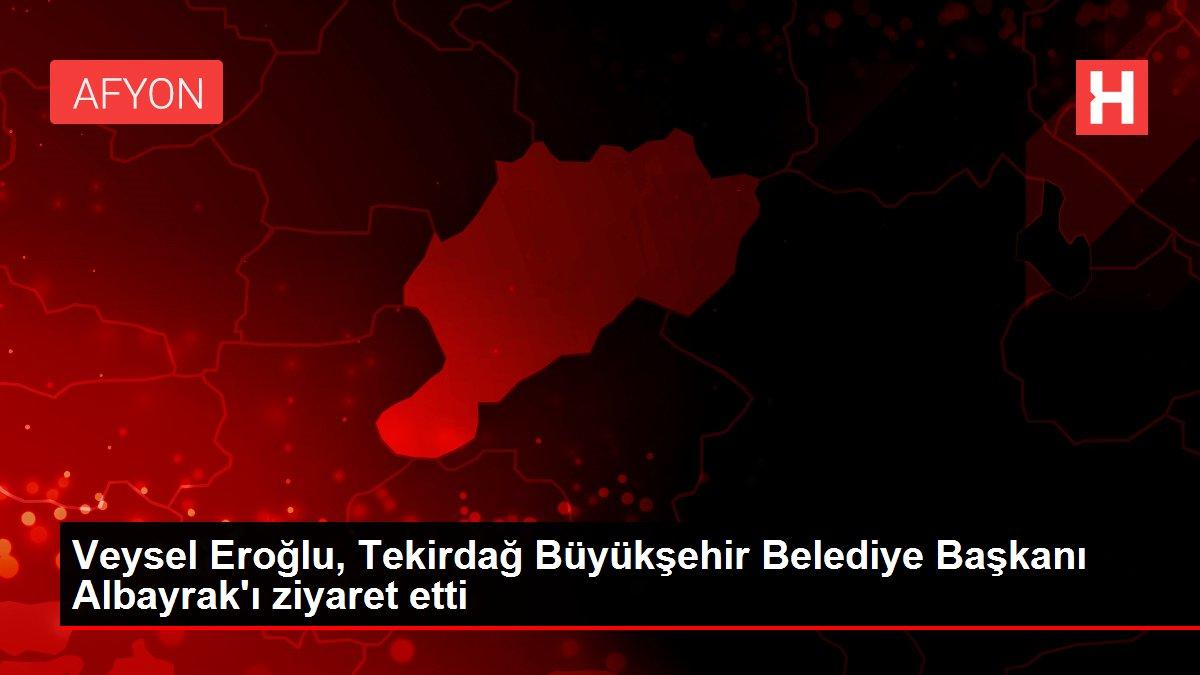 Son dakika haberi: Veysel Eroğlu, Tekirdağ Büyükşehir Belediye Başkanı Albayrak'ı ziyaret etti