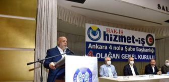 Bolu: Hak-İş Genel Başkanı Arslan: 'Üyelerimizin kanun zoruyla bir başka sendikaya üyeliğe zorlanmasını...