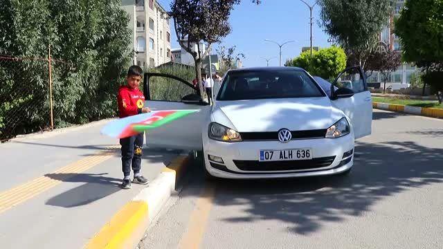 Azerbaycan'a destek için araç konvoyu oluşturuldu